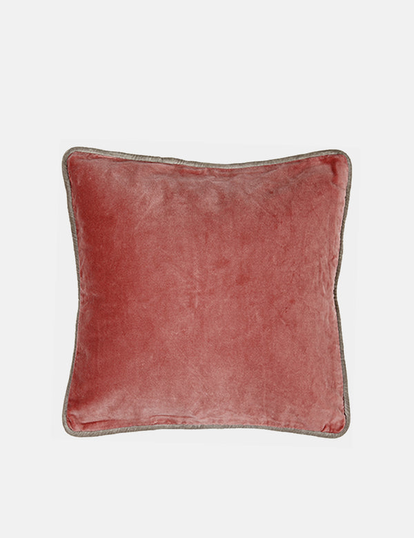 Liv Interior Velvet Cushion (45cm) - Rose