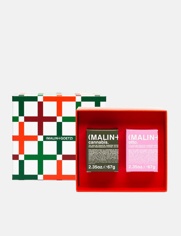 Malin+Goetz Best Paired Candle Votives Set - Red/Green