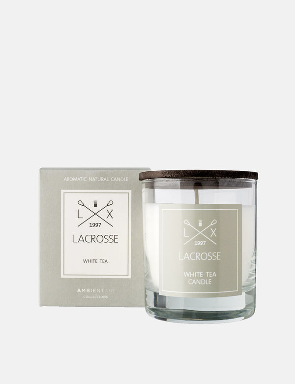 Lacrosse Glass Scented Candle - White Tea