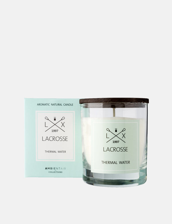 Lacrosse Glass Scented Candle - Thermal Water