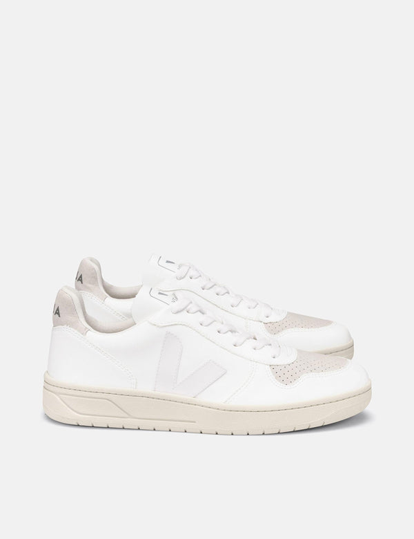 Veja V-10 CWL Trainer - Full White/Natural