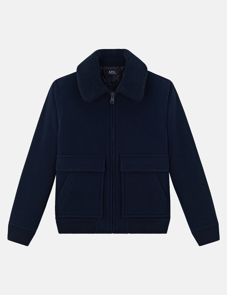 A.P.C. Bronze Jacket - Dark Navy Blue - Article