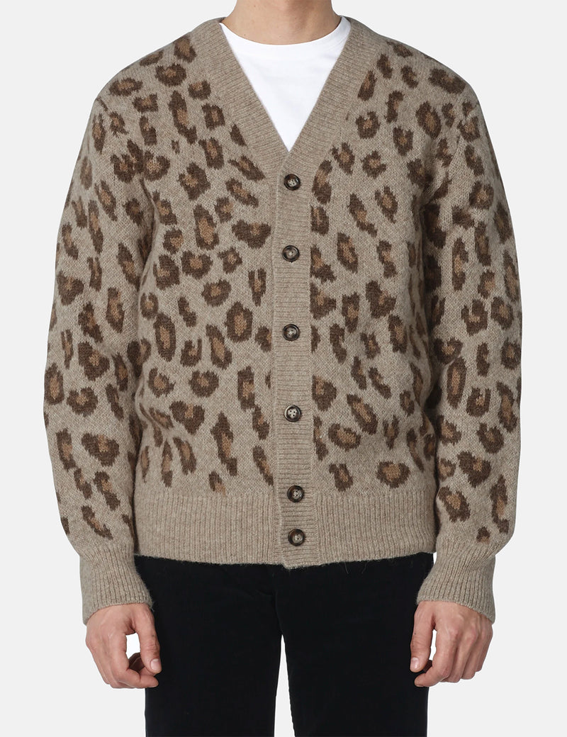 A.P.C. Oscar Cardigan - Frosted Chestnut Brown