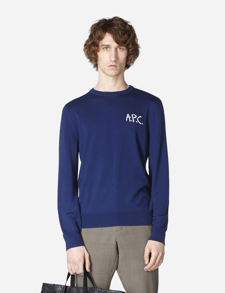 A.P.C. Sapiens Knit Sweatshirt - Indigo Blue - Article