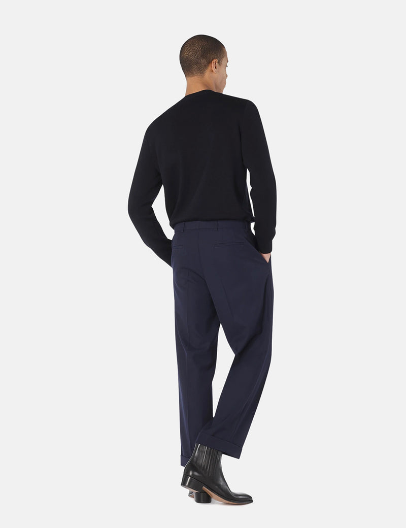 A.P.C. Kirk Trouser (Wool Blend Gabardine) - Dark Navy Blue