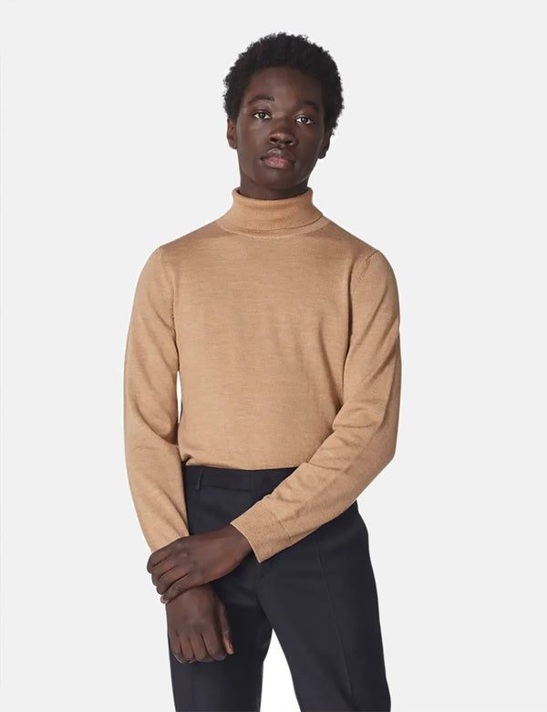 A.P.C. Dundee Turtleneck Sweater - Heather Ochre