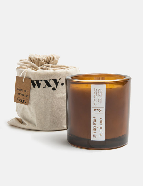 wxy. Big Amber. Candle (12.5oz) - Smoked Rose & Sumatran Pine