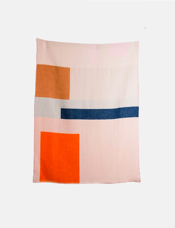 ZigZagZurich Bauhaused 2 Wool Blanket by Michele Rondelli & Sophie Probst