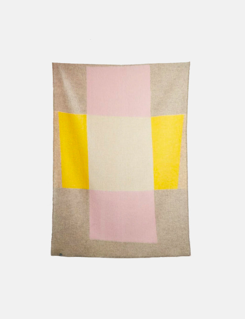 ZigZagZurich Bauhaused 3 Wool Blanket by Michele Rondelli & Sophie Probst