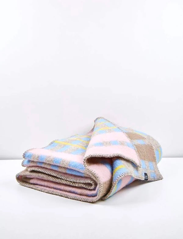 ZigZagZurich Bauhaused 4 Wool Blanket by Michele Rondelli & Sophie Probst