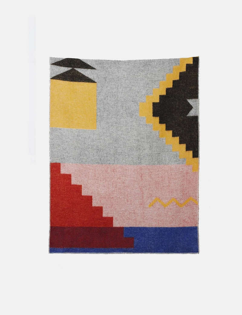 ZigZagZurich Fez Wool Blanket by Sophie Probst