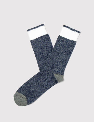 Democratique Relax Melange Contrast Socks - Navy/Army - Article
