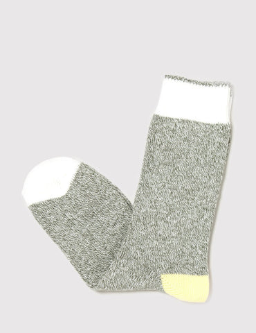 Democratique Relax Melange Contrast Socks - Army - Article