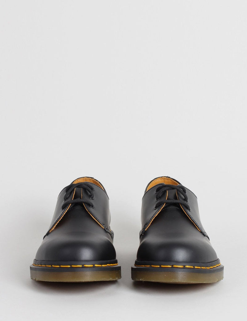 Dr Martens 1461 Shoes (11838002) - Black Smooth/Yellow Welt Stiching - Article