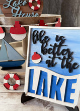 Load image into Gallery viewer, DIY Lake Tiered Tray Unfinished Paint Kit