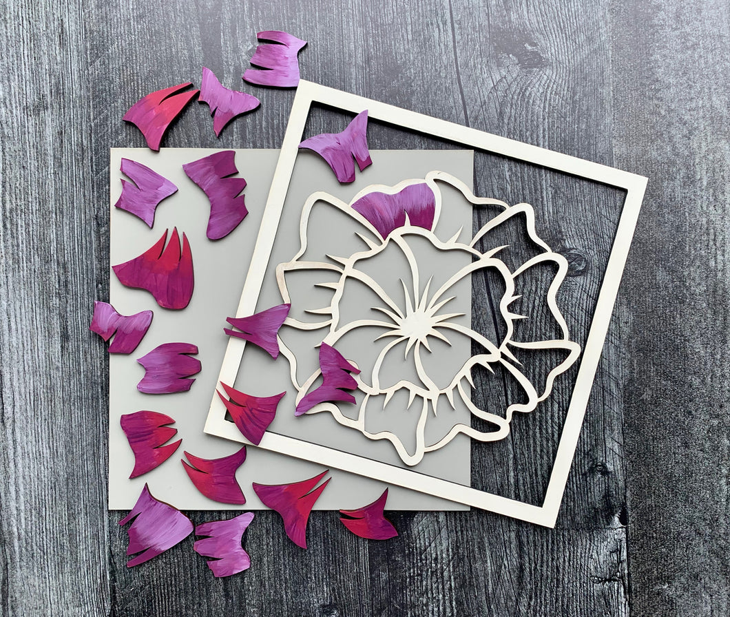 Paint Your Own Floral DIY Kit - Hibiscus