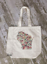 Load image into Gallery viewer, Custom State Floral Tote Bag