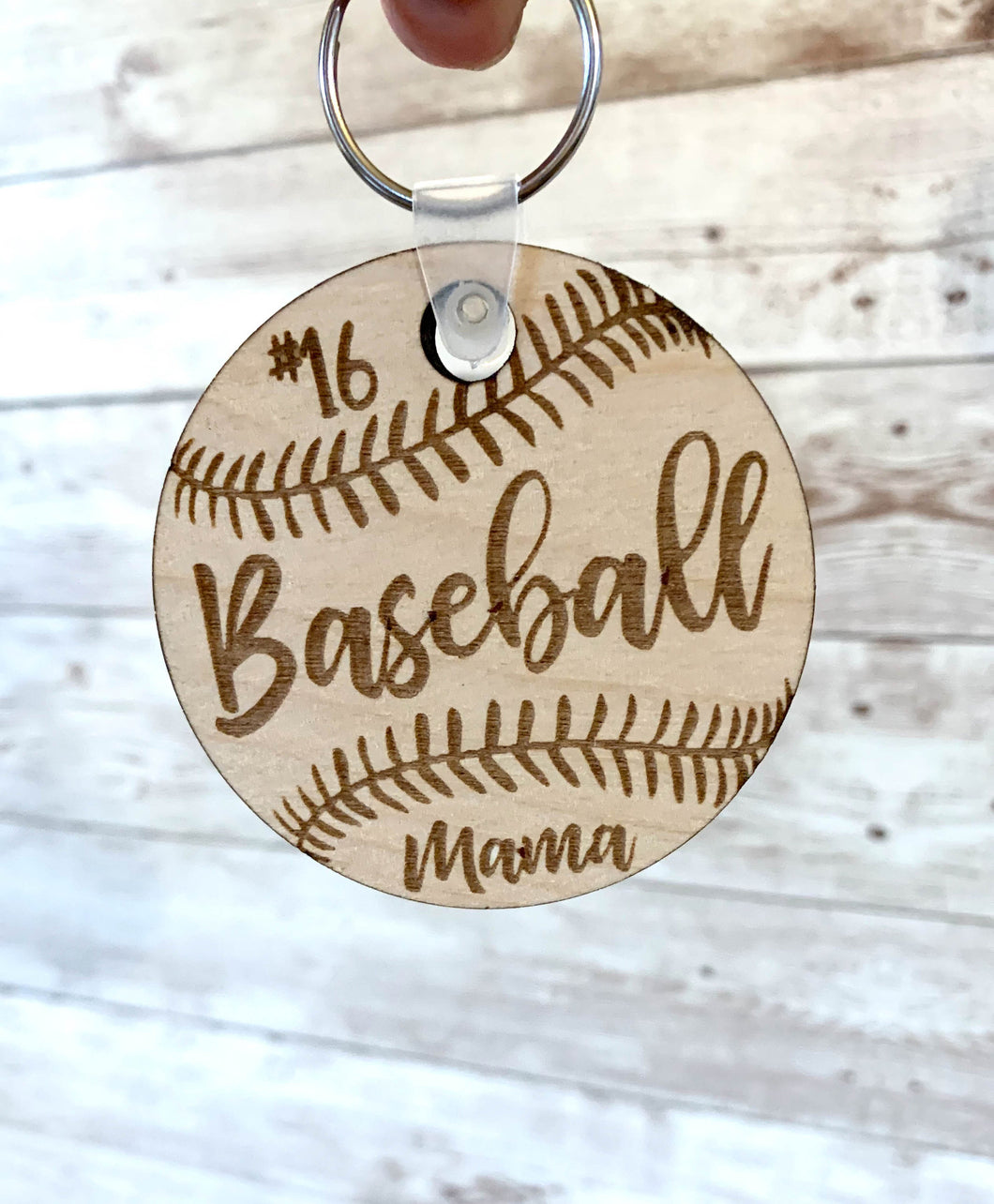 Baseball / Softball Keychain Custom Engraved