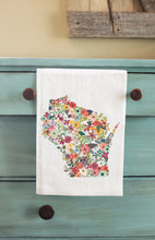 Load image into Gallery viewer, Custom State Floral Tea Towel