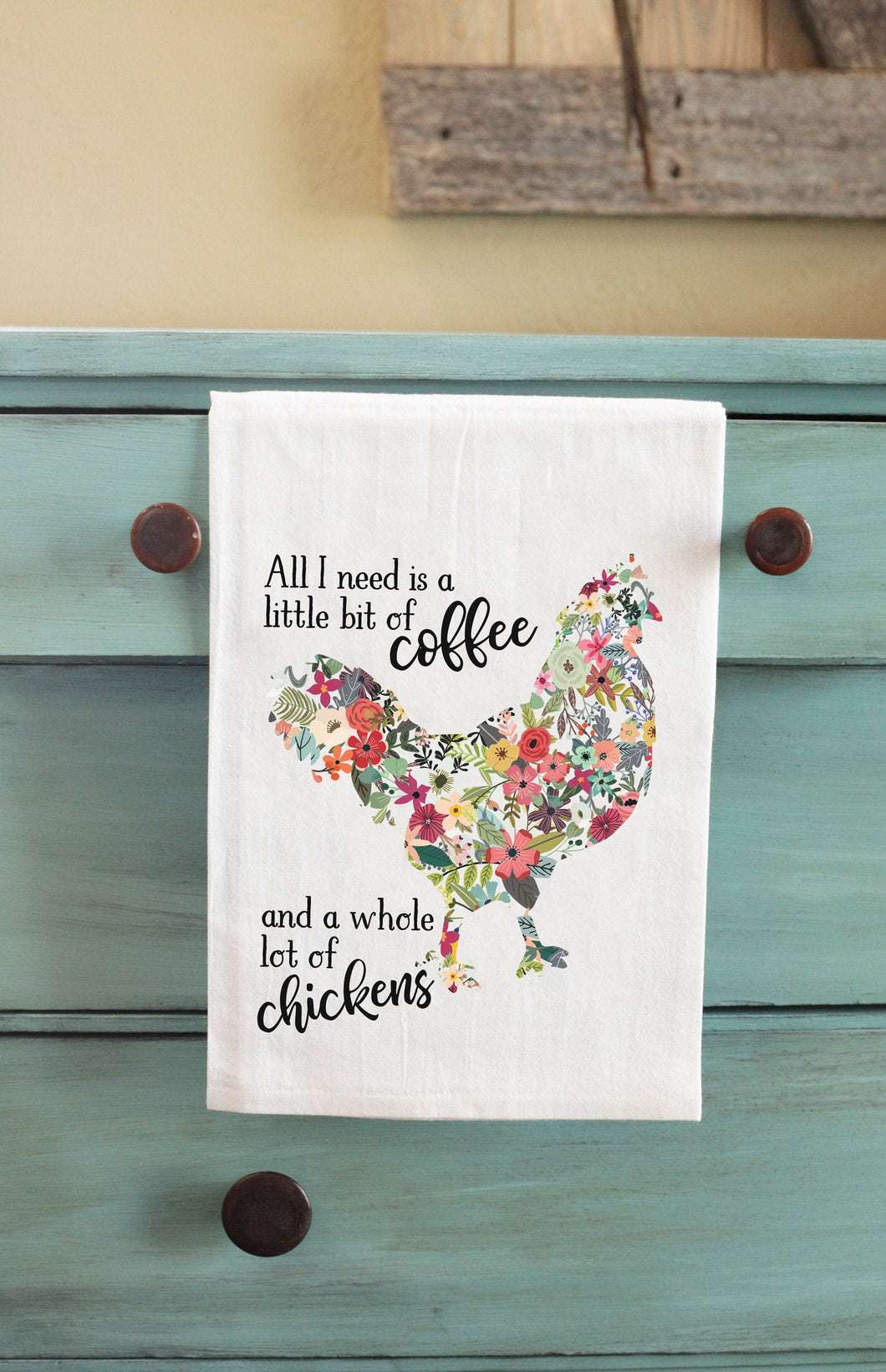 Coffee and Chickens Kitchen Towel