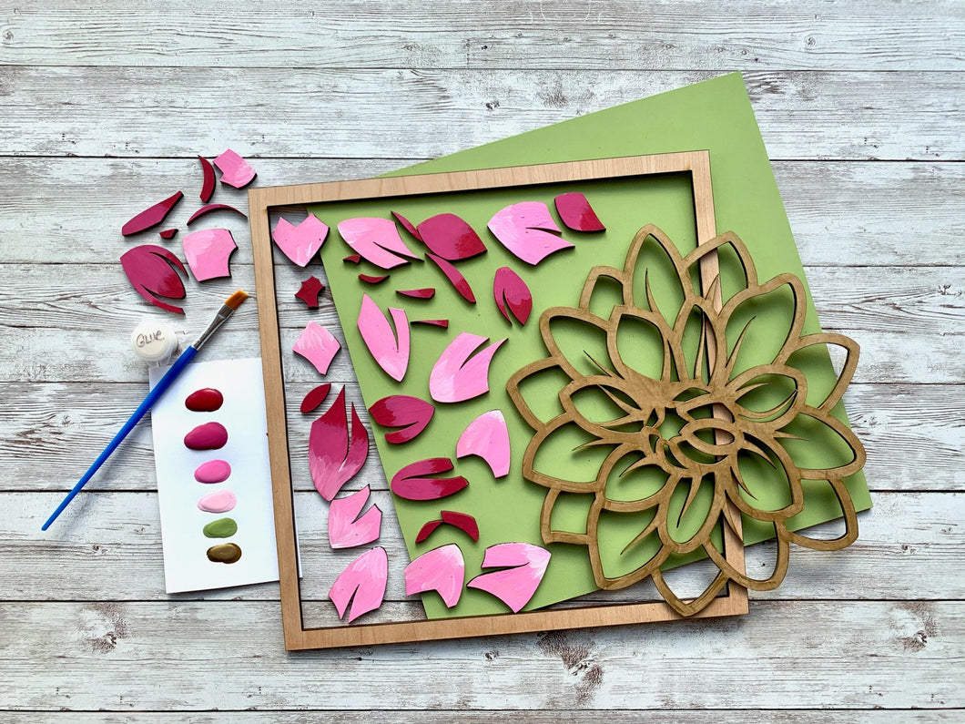 Paint Your Own Floral DIY Kit