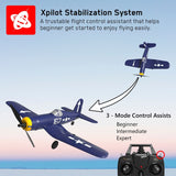 VOLANTEXRC F4U Corsair 4CH Warbird Airplane with Xpilot Stabilizer - One-key Aerobatic RTF 761-8