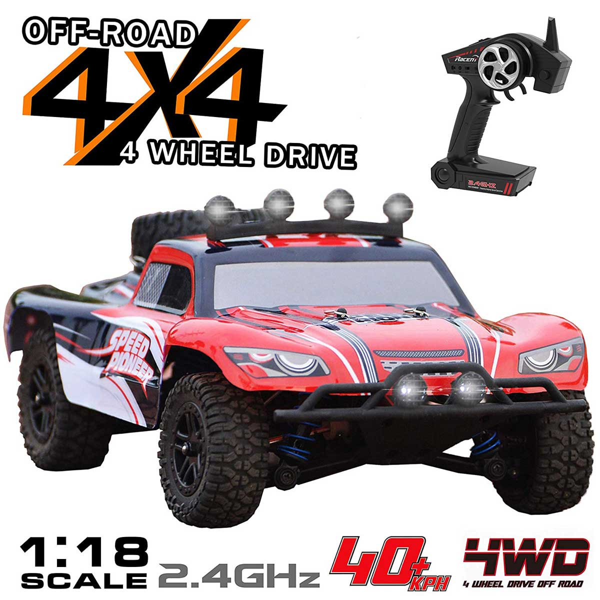 Short Course 30mph High Speed Truck with Shock Absorber System and Water-Splash-Proof Structure (785-2) RTR Cars