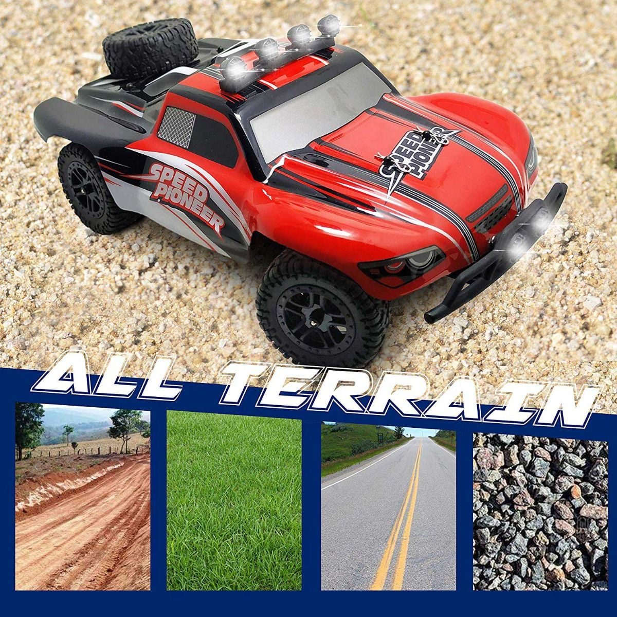 Short Course 30mph High Speed Truck with Shock Absorber System and Water-Splash-Proof Structure (785-2) RTR