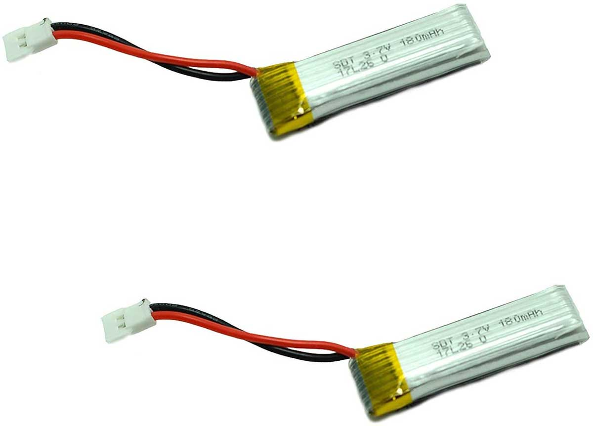 2pcs 3.7V 180mAh Lipo Rechargeable Battery for RC Airplane 761-1 Trainstar Mini Default