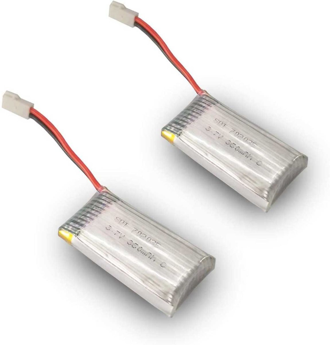 2pcs 3.7V 360mAh Lipo Rechargeable Battery for RC Airplane 761-2, 761-2W, 761-3, 761-4, 761-5, 761-7 Default