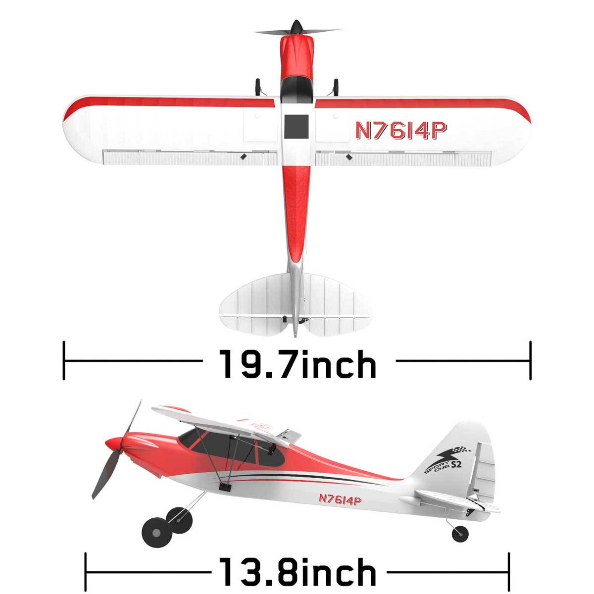 Sport Cub 500 4Ch RC Trainer Airplane w- 6-Axis Gyro One-key Aerobatic Park flyer (761-4) RTF