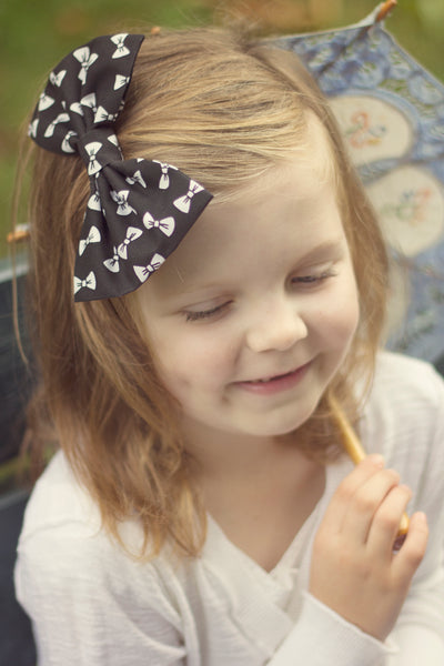 Girls' Hair Bow, Little Girl Hair Accessory in Black