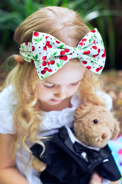 Cherry Bow Headband
