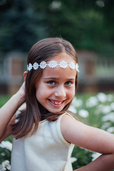 Cream Daisy Headband