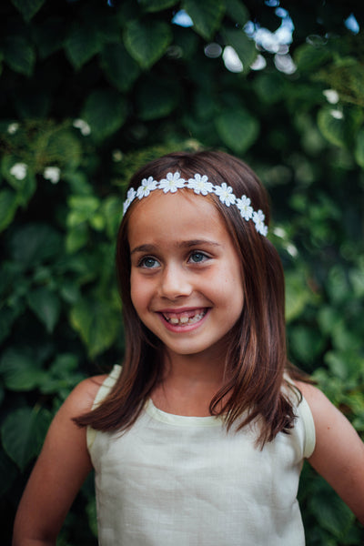 Yellow and White Daisy Headband