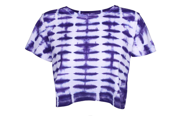 Purple Ripple Dye Crop Top - Jackets