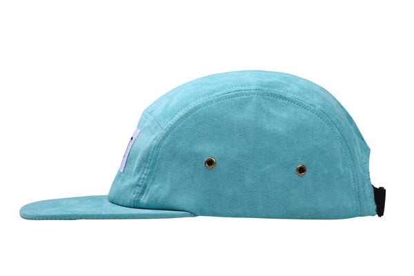 Teal Full Suede 5 Panel Cap - Jackets