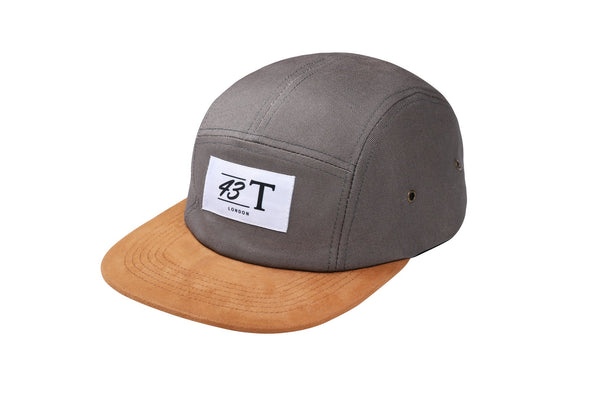 Grey and Suede 5 Panel Cap - Jackets