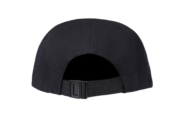 Black Waxed 5 Panel Cap - Jackets