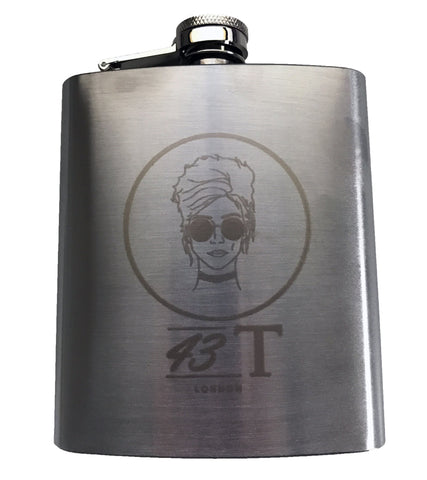 Custom 43T Beehive Girl Hip Flask - Jackets