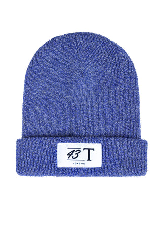 Blue Heather Logo Beanie - Jackets