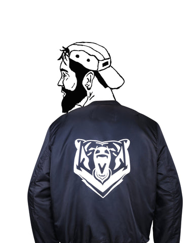 Black Bear Bomber Jacket - Jackets