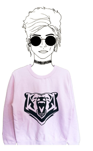 Baby Pink Bear Sweatshirt - Jackets