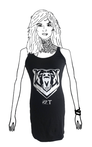 Black Vest Bear Dress