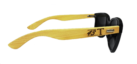 Black Wayfarer Bamboo Sunglasses - Jackets