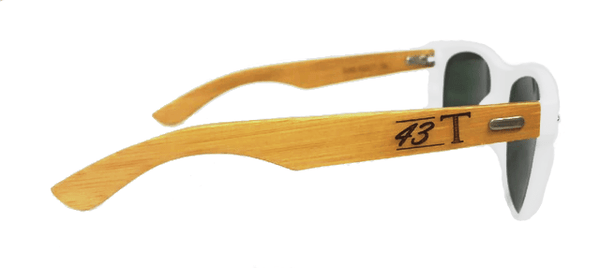 White Wayfarer Bamboo Sunglasses - Jackets