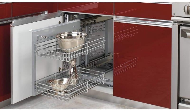 Two-Tier Metal Rack Pull-Out Rack