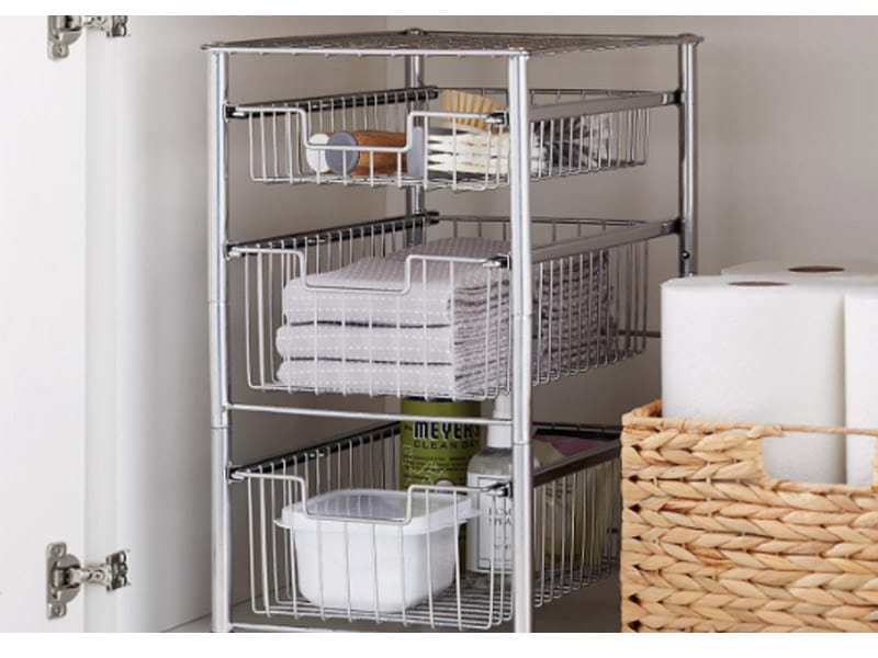Stackable and Slidable Undercabinet Organizer