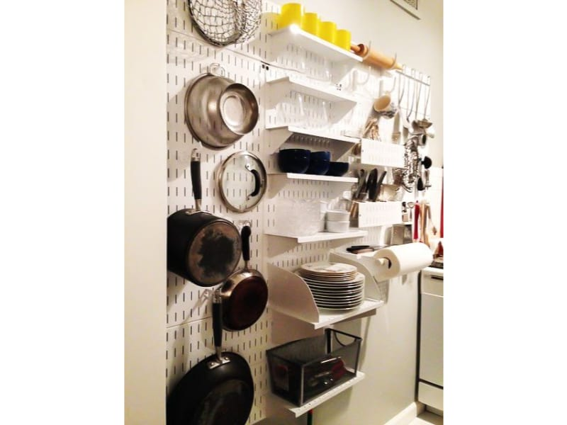 Pin Your Pans on a Peg Board