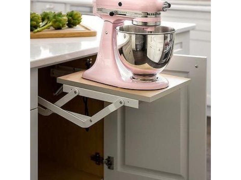 Pull-Out Mixer Lift - Photo by Decorpad.com